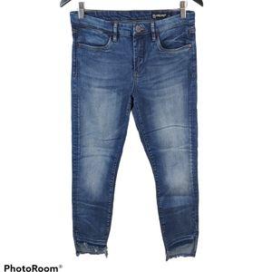 BLANKNYC Midrise Raw Hem Distressed Jeans …